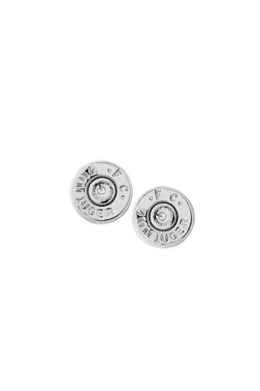 Half United Bullet Stud Earrings - Main Image
