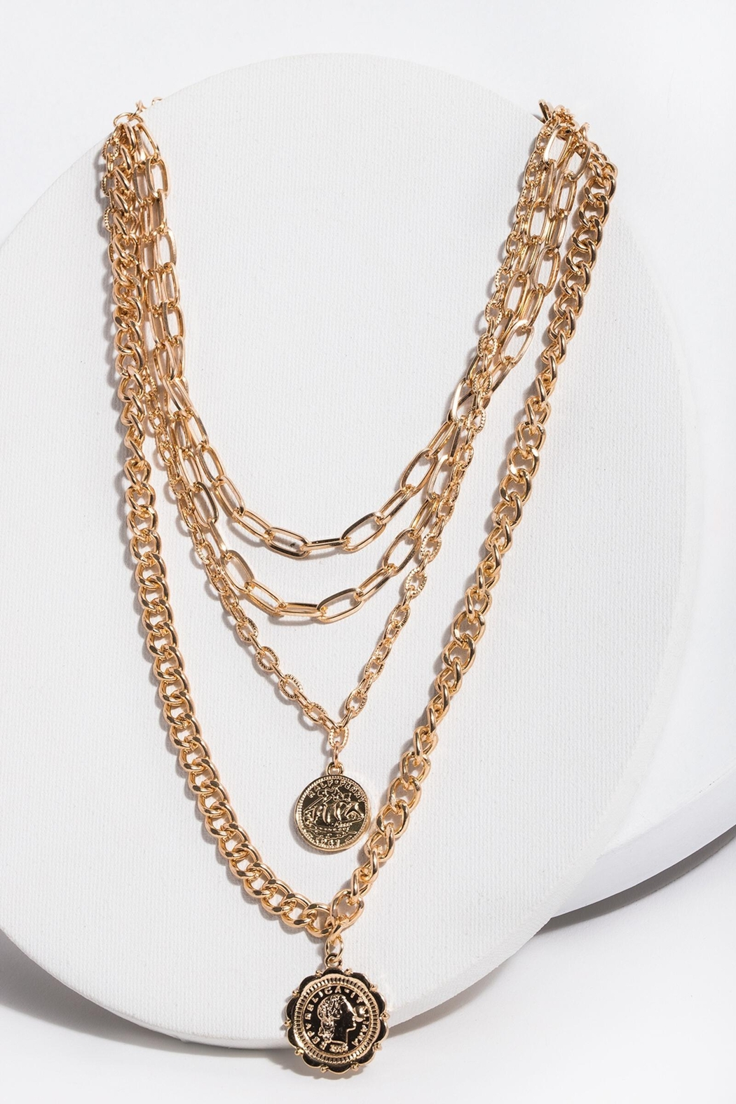 Saachi Halfpenny Necklace - Front Cropped Image