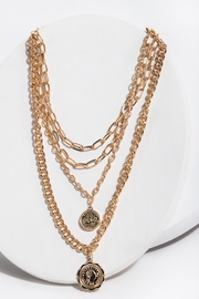 Saachi Halfpenny Necklace - Front cropped