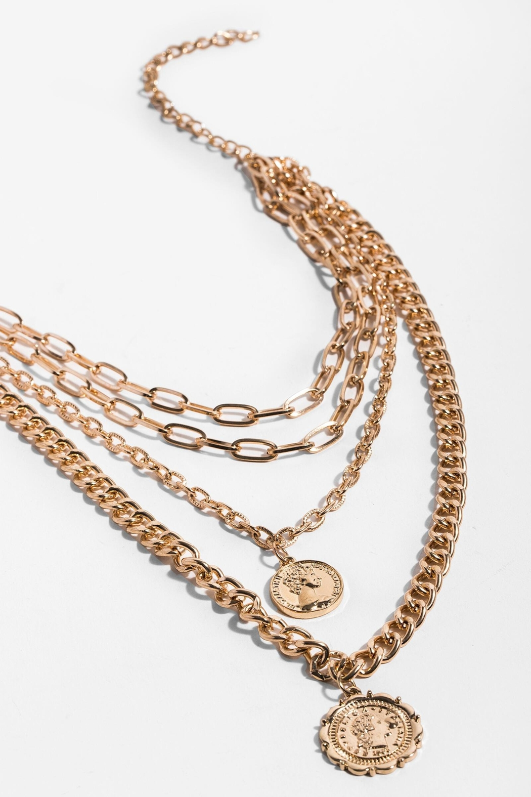 Saachi Halfpenny Necklace - Front Full Image