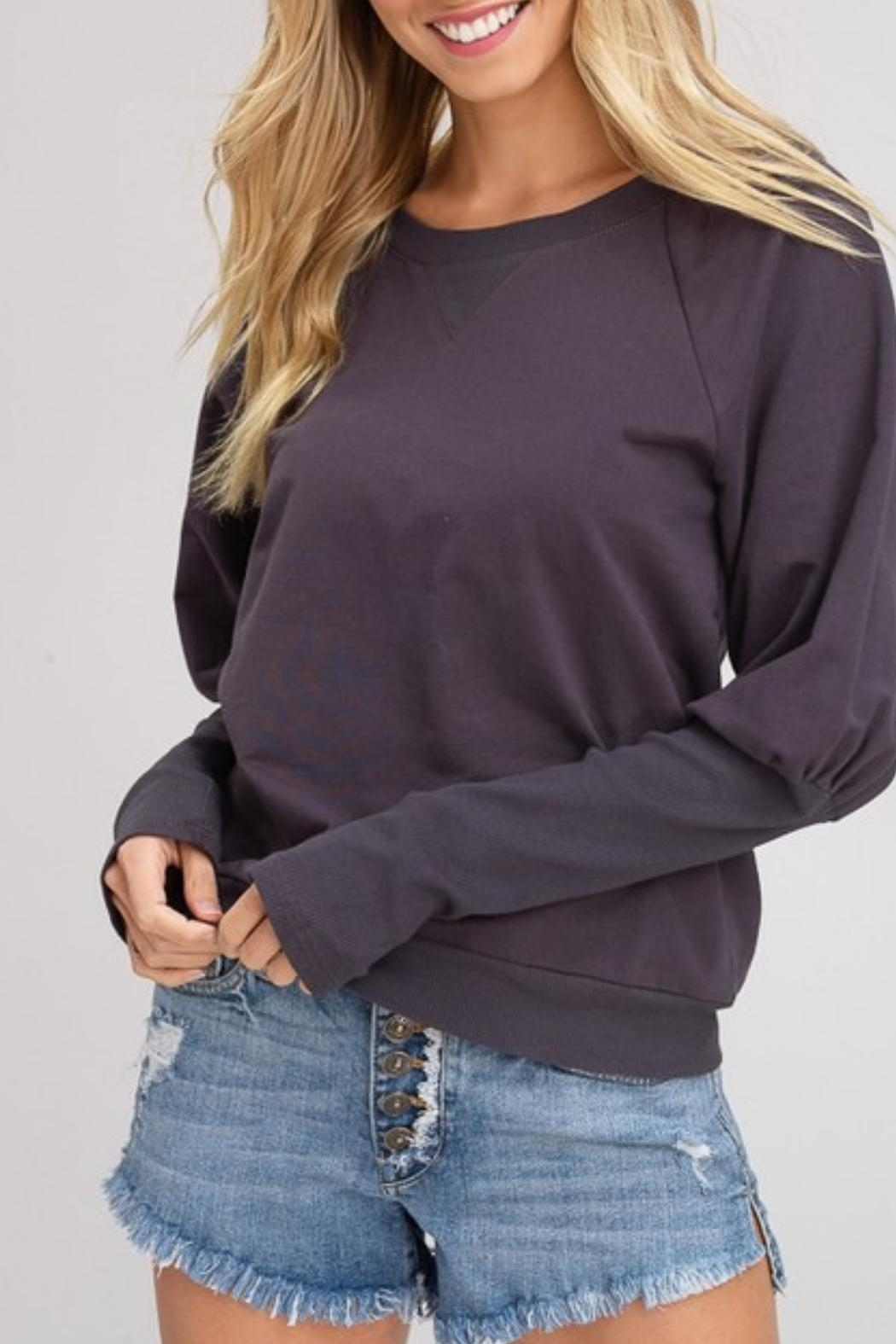Listicle Hallogen Sleeve Top - Front Full Image