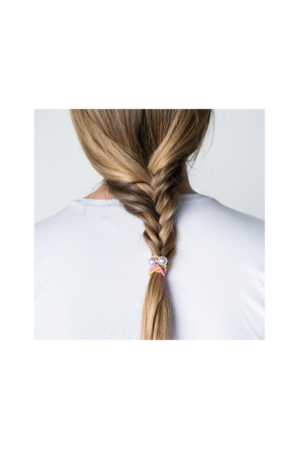 The Birds Nest HALO DISC/PEARL HAIR TIES/BRACELETS - Front Full Image