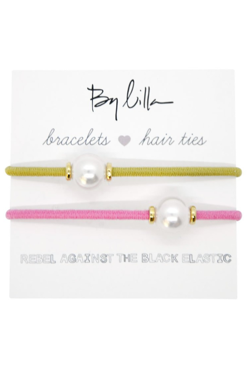 The Birds Nest HALO DISC/PEARL HAIR TIES/BRACELETS - Main Image