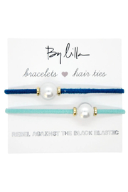 The Birds Nest HALO DISC/PEARL HAIR TIES/BRACELETS - Front cropped