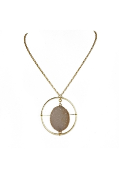 Fabulina Designs Halo Druzy Necklace - Product List Image