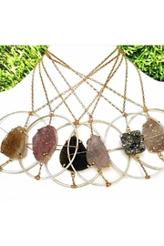 Fabulina Designs Halo Druzy Necklace - Other
