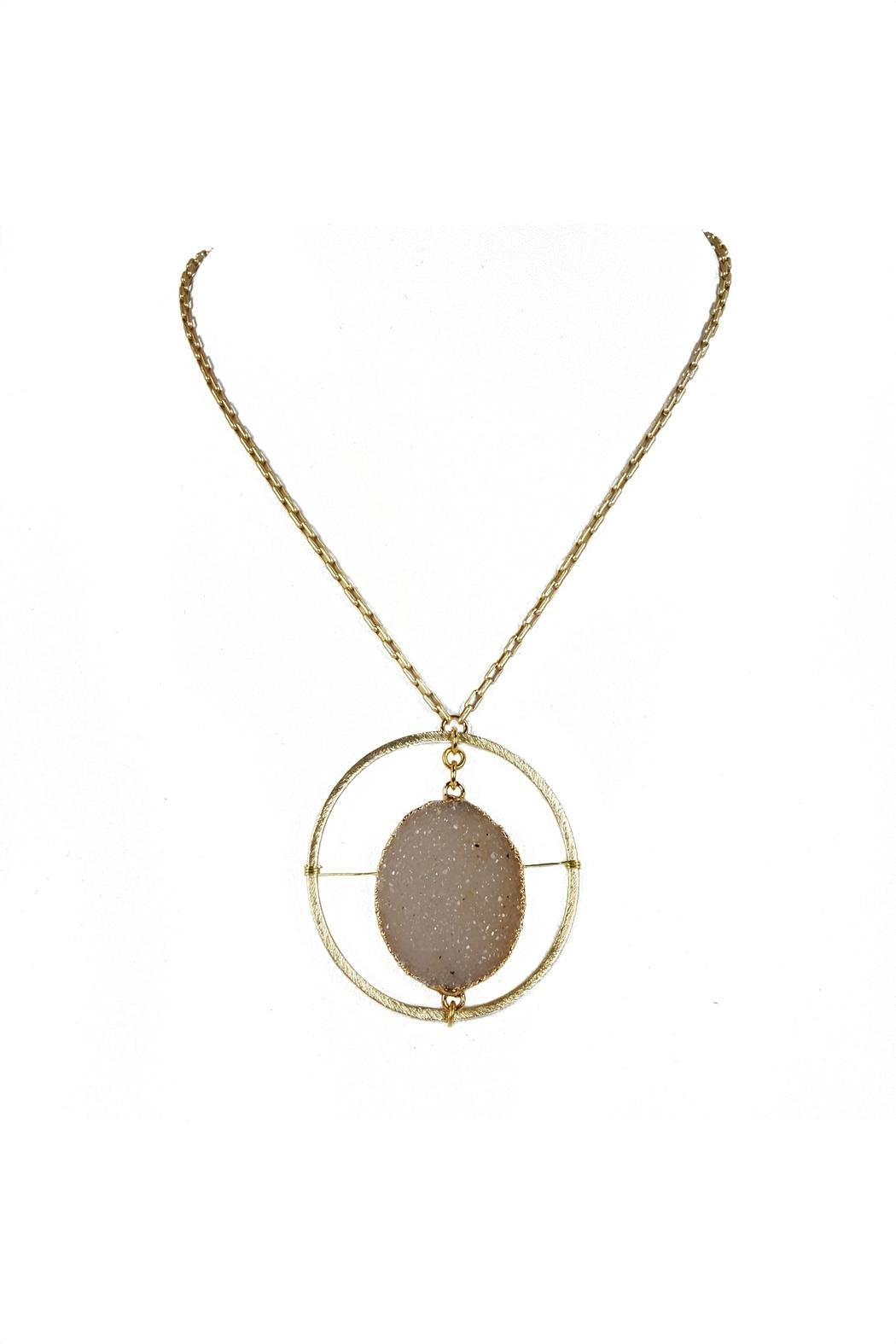 Fabulina Designs Halo Druzy Necklace - Main Image