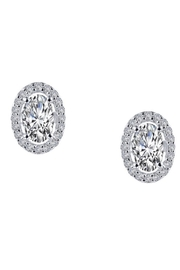 Lafonn Halo Oval Stud - Product Mini Image