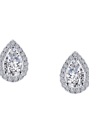 Lafonn Halo Pear Stud - Product Mini Image