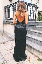 Paradisco Halo Sequin Gown - Front full body