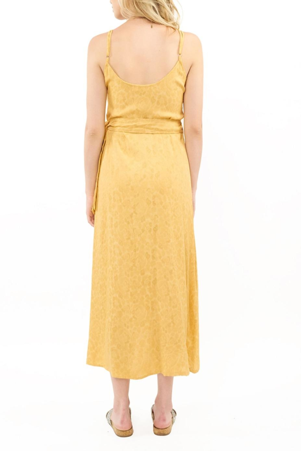 Saltwater Luxe Halsey Yellow Midi - Front Full Image