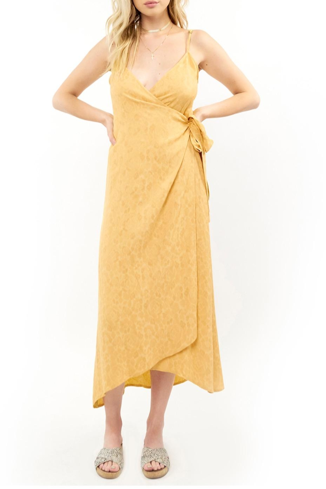Saltwater Luxe Halsey Yellow Midi - Front Cropped Image