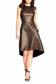 Halston Heritage Metallic Cocktail Dress - Product Mini Image