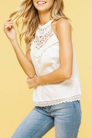 Listicle Halter Applique Tank - Product Mini Image