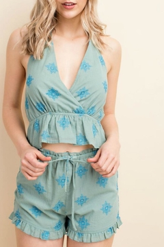 Honey Punch Halter Babydoll Top - Product List Image