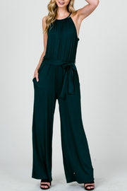 Apricot Lane Halter Belted Jumpsuit - Product Mini Image