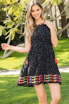 THML Clothing HALTER EMBROIDERED DRESS - Product List Image