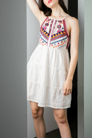 THML  Halter embroidered dress - Product Mini Image