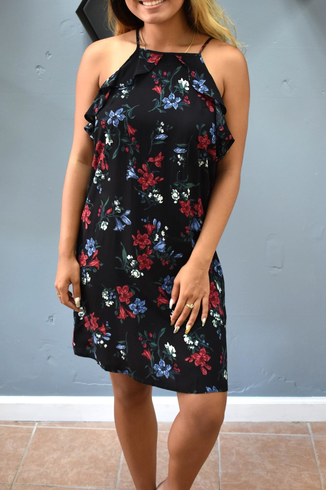 RD Style Halter Floral Dress - Main Image