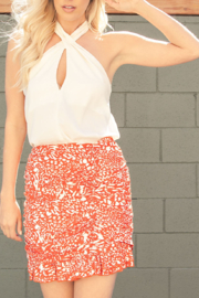 Glam Halter Hottie top - Front cropped