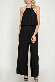 She + Sky Halter Jumpsuit - Product Mini Image