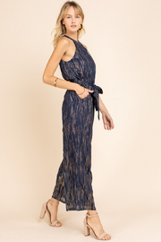 Gilli  Halter Jumpsuit with Lurex detail - Front full body