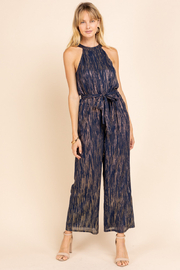 Gilli  Halter Jumpsuit with Lurex detail - Front cropped
