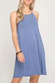 She + Sky Halter Knit Dress - Front cropped