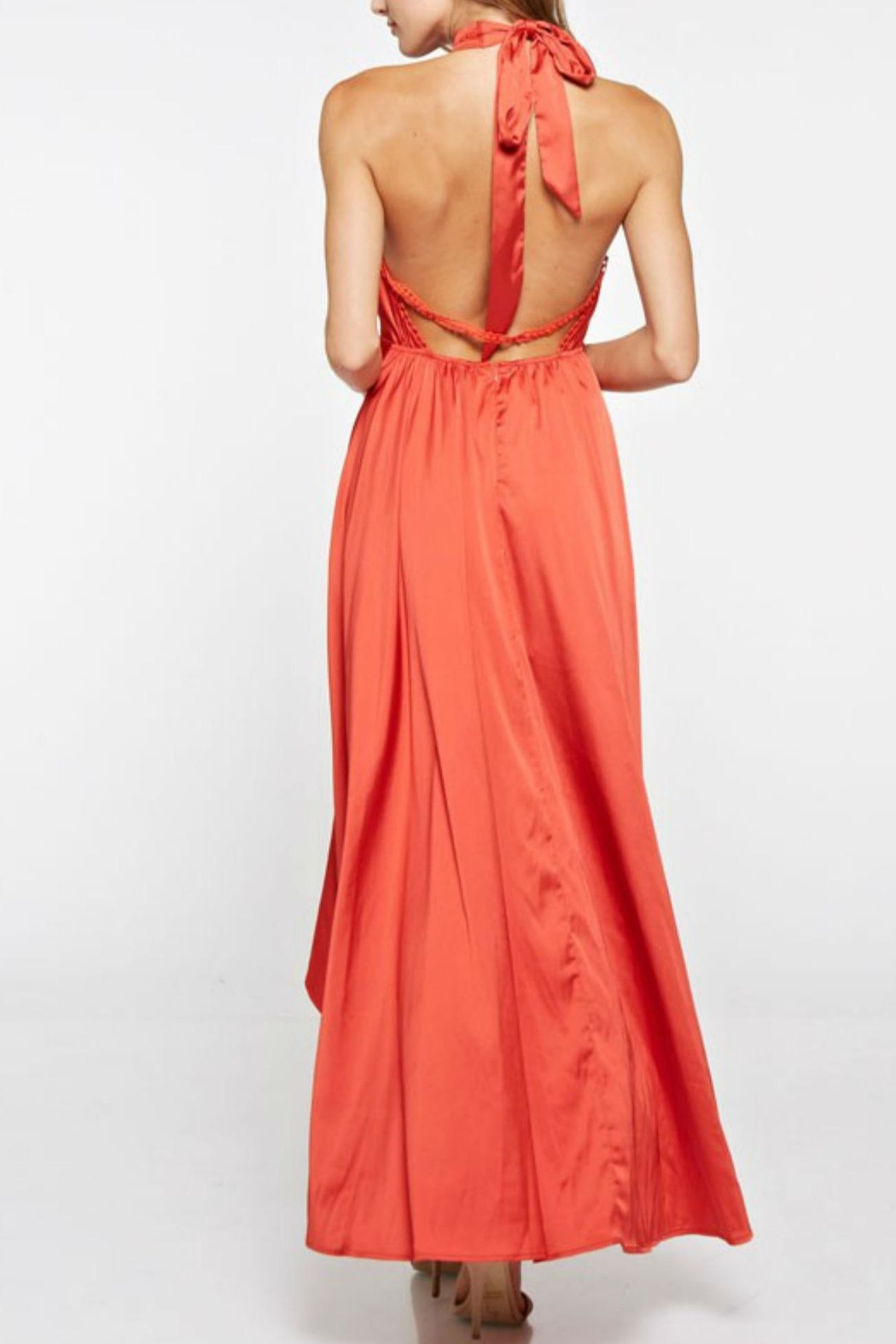 the clothing company Halter Long Dress - Side Cropped Image
