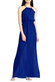 Adrianna Papell Halter Maxi Dress - Front cropped