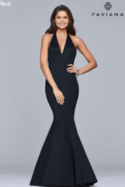 Faviana Halter Neck Gown - Product Mini Image