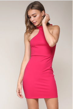 blue blush Halter neck mini dress - Product List Image