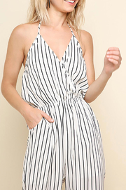 Umgee USA Halter-Neck Tie Jumpsuit - Front full body