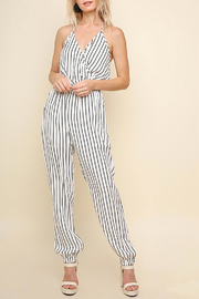 Umgee USA Halter-Neck Tie Jumpsuit - Front cropped