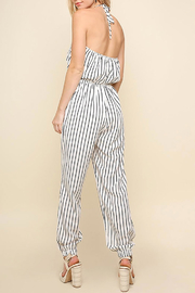 Umgee USA Halter-Neck Tie Jumpsuit - Back cropped