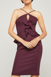 BCBG Max Azria Halter Peplum Dress - Product Mini Image