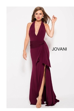 Jovani Halter Plunging Gown - Product List Image