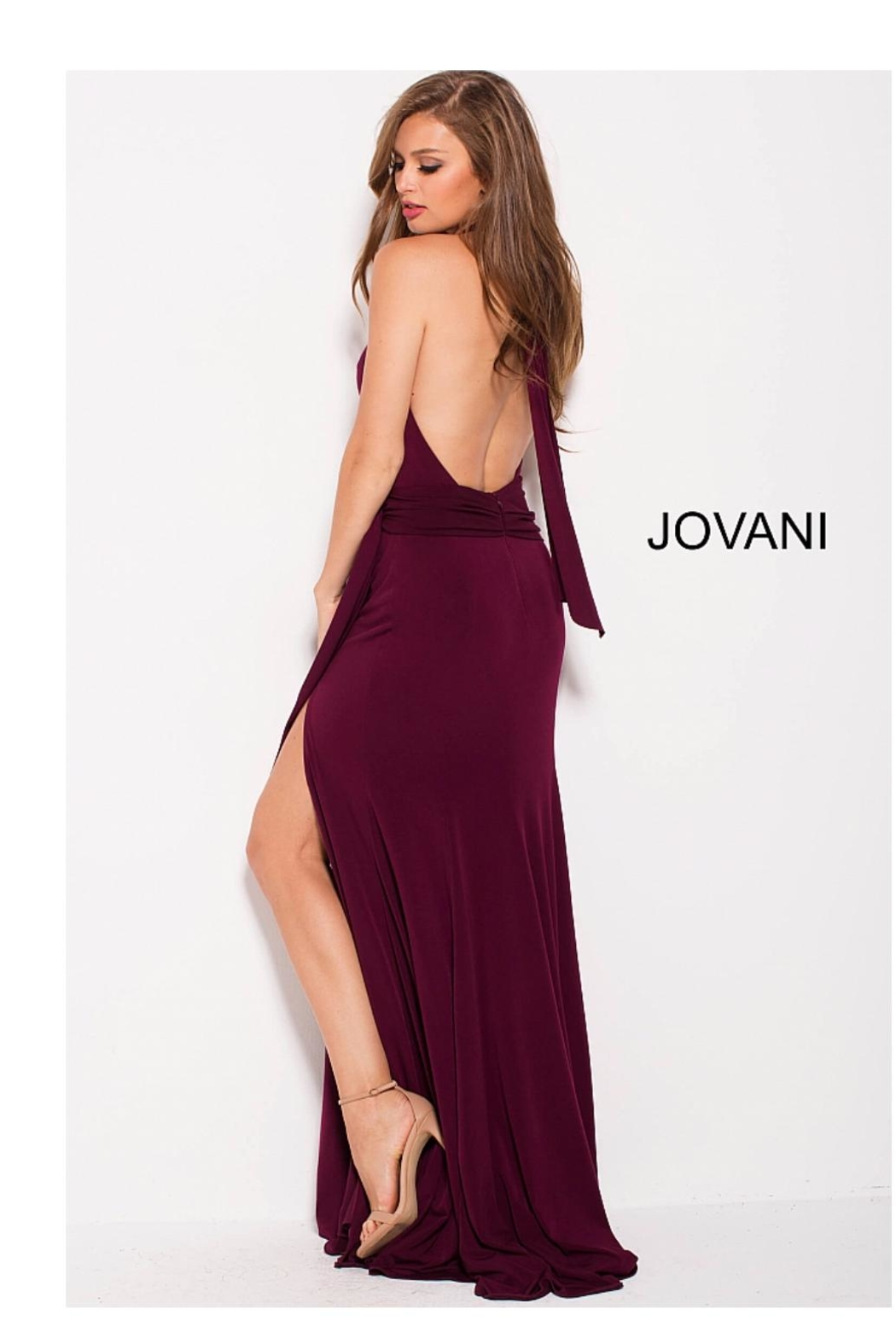 8e786d3fc22 Jovani Halter Plunging Gown from Guilford by A s Unique Boutique ...
