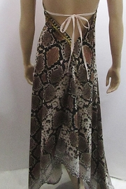 Indian Tropical HALTER SATEEN PRINT DRESS - Side cropped