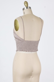 Final Touch Halter Smocked Top - Front full body