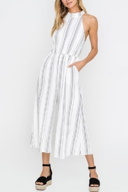 Lush Clothing  Halter Striped Wide-Leg-Jumpsuit - Product Mini Image