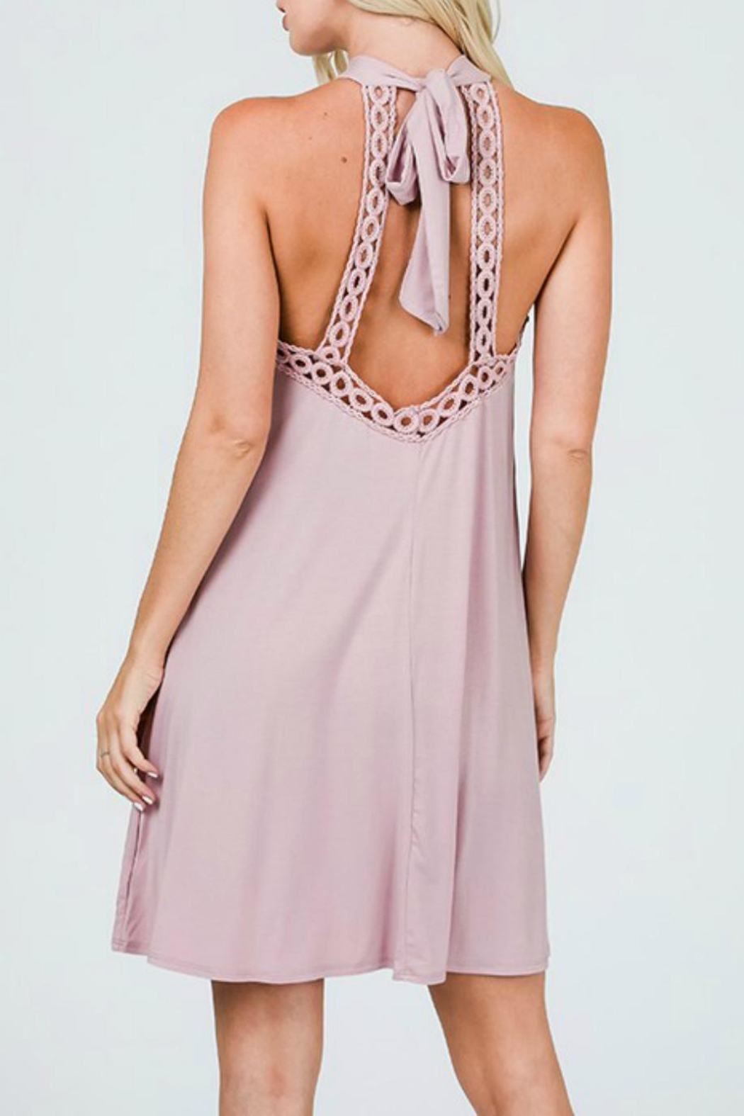 CY Fashion Halter Tank Dress - Side Cropped Image