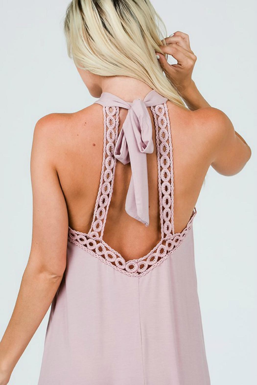CY Fashion Halter Tank Dress - Back Cropped Image