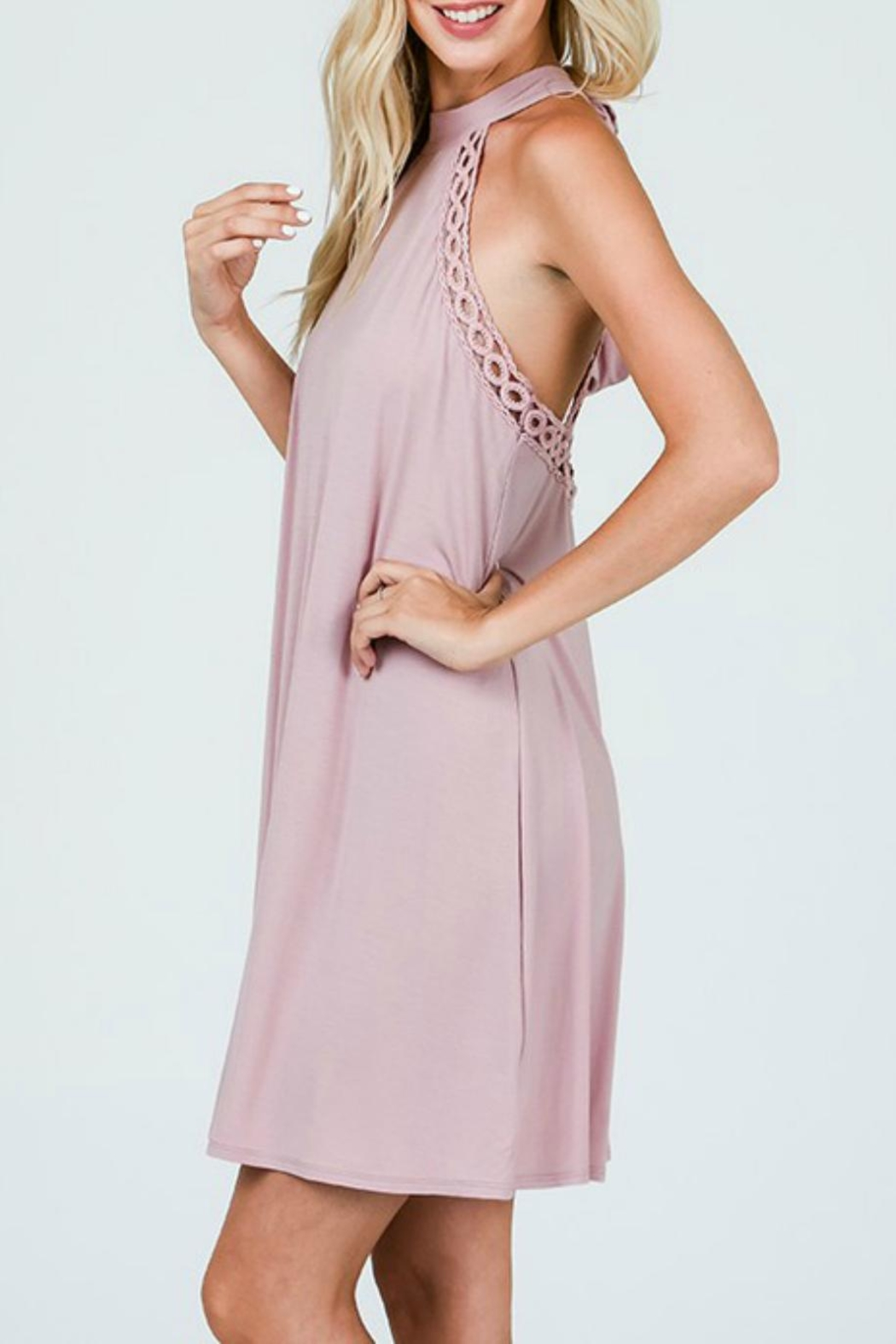 CY Fashion Halter Tank Dress - Front Full Image