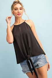 eesome Halter Tie Front Top - Product Mini Image