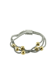 Embellish Hammered Ball Bracelet - Front cropped
