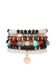 Riah Fashion Hammered-Charm Stackable Bracelet - Product Mini Image