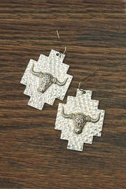 JChronicles Hammered Cow-Skull Earrings - Product Mini Image