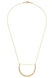 AMANO STUDIO Hammered Crescent Necklace - Product Mini Image