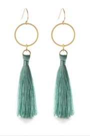 Amano Trading, Inc. hammered disk tassel earrings - Product Mini Image